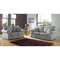 Florence Floral Fabric Scrolled Arm Sofa Collection