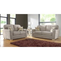 Karen Taupe Plain Fabric Sofa Collection