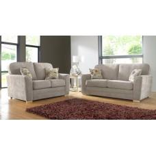 Karen Taupe Plain Fabric Sofa Collection