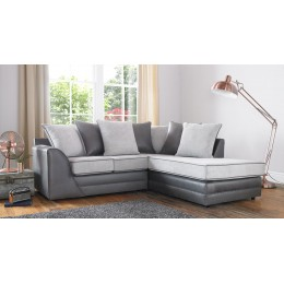 Missouri Fabric Scatter Back Cushion Silver Corner Sofa
