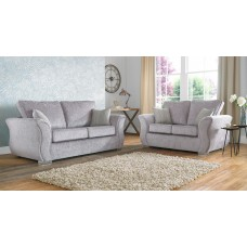 Regal Curved Grey Fabric Sofa Collection
