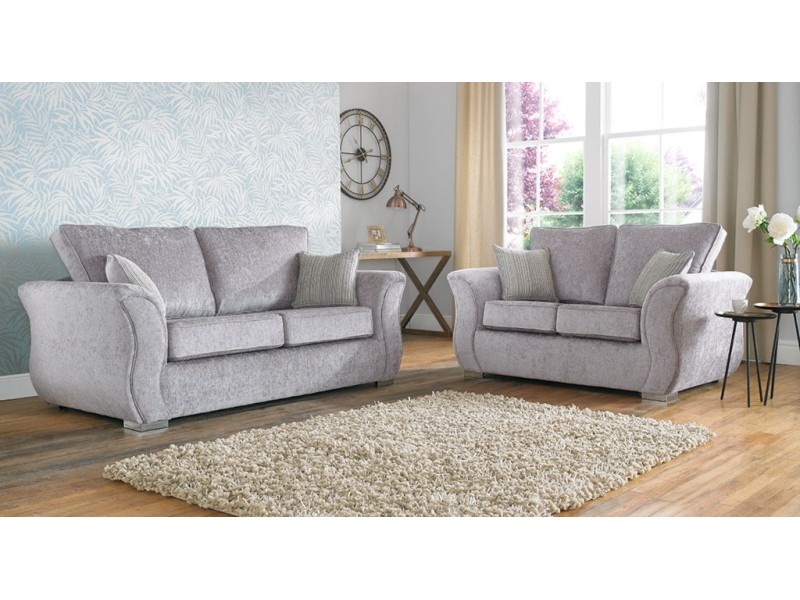 regel curved fabric sofa collection