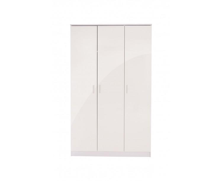 Ottawa 3 Door Wardrobe Bedroom Furniture White