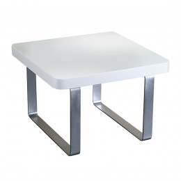 Accent Lamp Table White