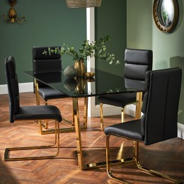 Antibes Dining Chair Black Pack of 2