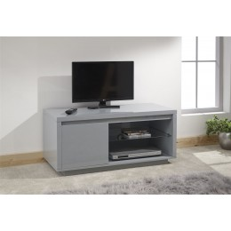 Polar Living Room High Gloss LED TV Unit Grey