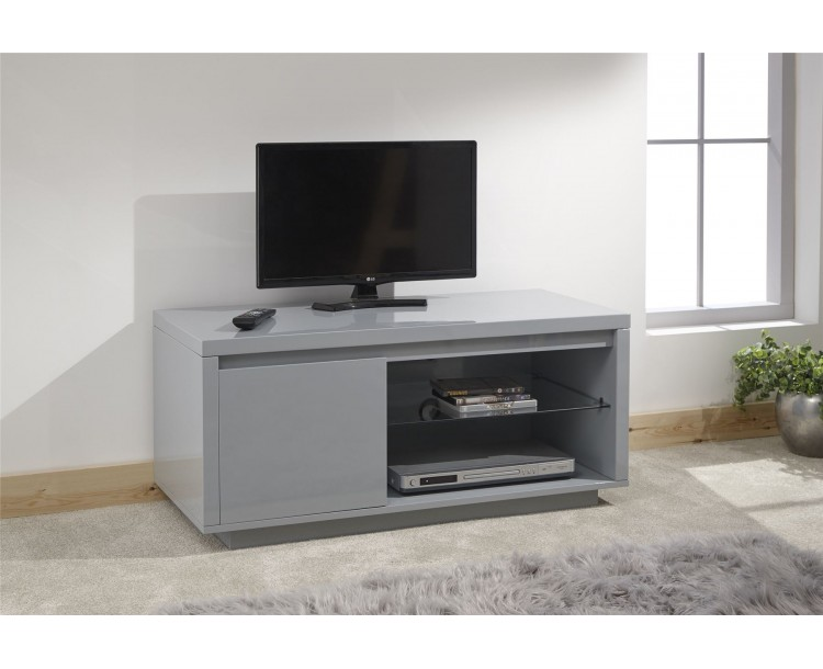 Polar Living Room High Gloss LED TV Unit Grey