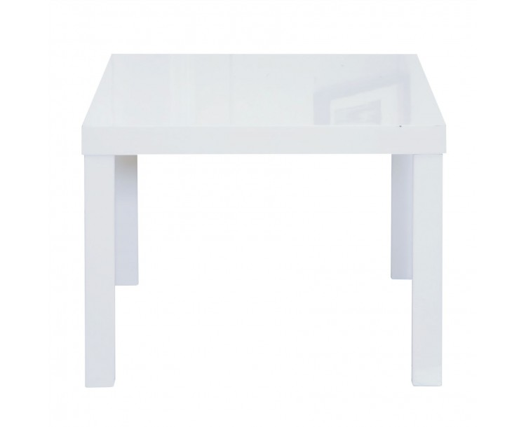 Puro White Full High Gloss Finish End Table