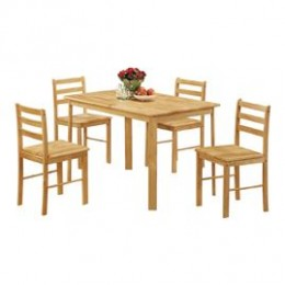 Derby Solid Oak Wood Dining Set Including Four Chairs