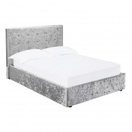 Rimini 5FT Kingsize Bed Silver