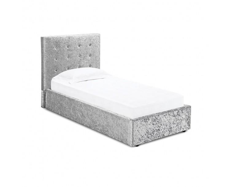 Rimini Silver Crushed Velvet 3FT Single Bed