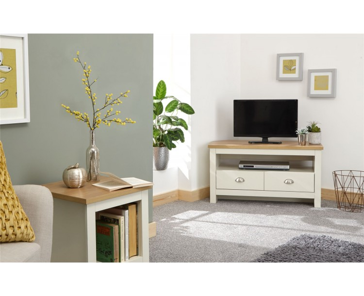 Lancaster Living Room Corner TV Unit Cream