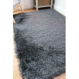Warm Shaggy Charcoal Dazzle Rug