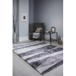 Modern Grey Two Tone Santa Cruz Boardwalk Rug