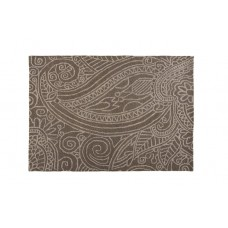 100% Wool Hand carved Textures Mendhi Grey Rug