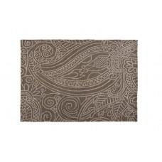 100% Wool Hand carved Textures Mendhi Grey Rug