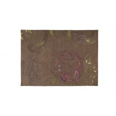 100% Wool Hand carved Textures Sylvan Taupe Rug
