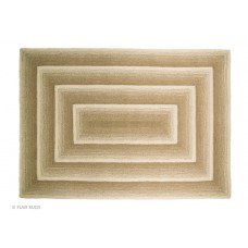 100% Wool Hand carved Textures Temple Ivory Rug