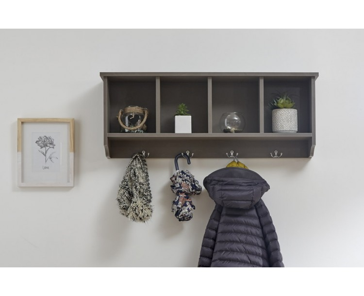 Kempton Wall Rack Grey
