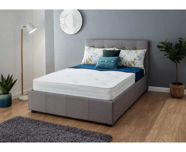 Athena Luxury Tufted Bonnell 4Ft6 Memory Foam Mattress Double