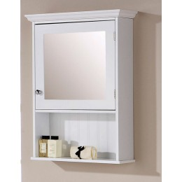 Colonial White Mirrored Bathroom Cabinet