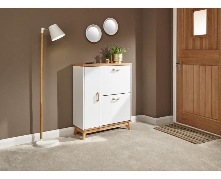 Nordica Shoe & Boot Cabinet Oak/White