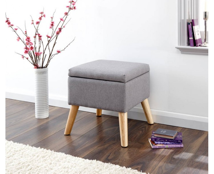 Alexandra Storage Ottoman Small Grey