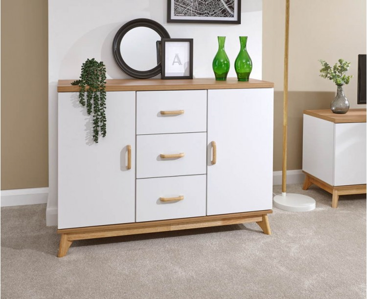 Nordica Large Sideboard Oak/White