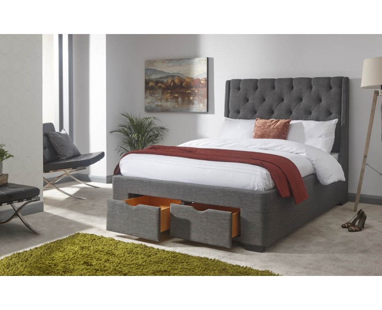 Koln 135cm Drawer Bed Grey