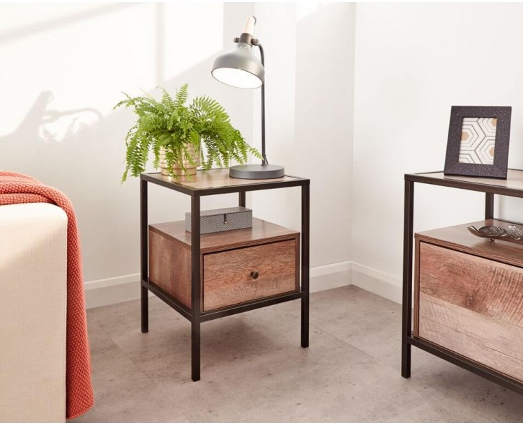 Brunel Lamp Table in Mango Wood Effect