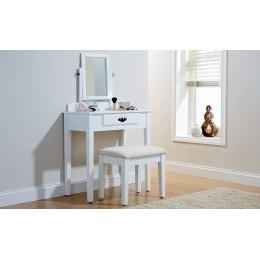 Simple & Elegant Shaker Vanity Dressing Table Set White