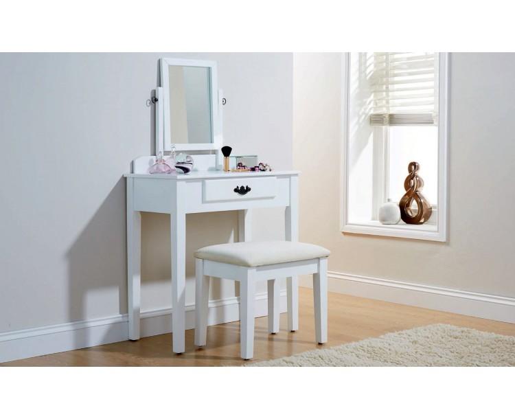 Simple & Elegant Julia Vanity Dressing Table Set White