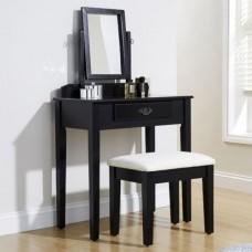 Simple & Elegant Shaker Vanity Dressing Table Set Black