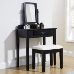 Simple & Elegant Shaker Vanity Dressing Table Set Black