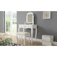 Shabby Chic White Heart Design Dressing Table With Padded Stool