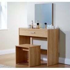 Julia Modern Bedroom Vanity Dressing Table Oak