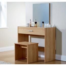 Julia Modern Bedroom Vanity Dressing Table Oak