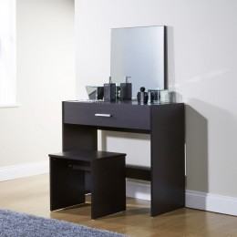 Julia Modern Bedroom Vanity Dressing Table Espresso