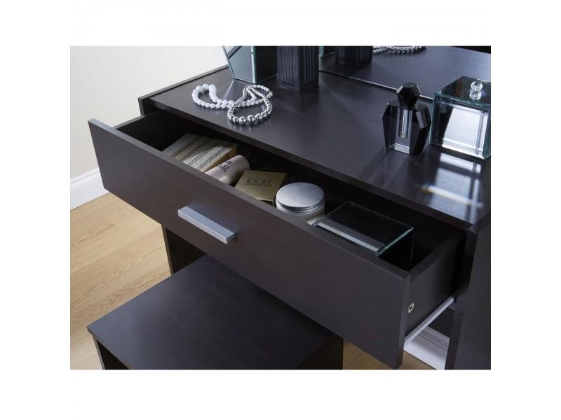 Espresso Vanity Table Bermuda Bedroom Vanity Table