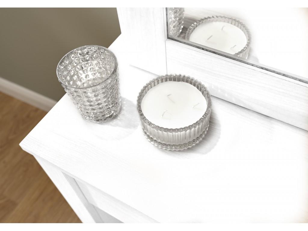 Hobson White Dressing Table Sliding Mirror Modern Design