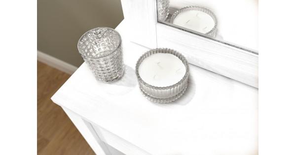 White Bedroom Set With Dressing Table: White Hobson Dressing Table Sliding Mirror Stool Set Bedroom