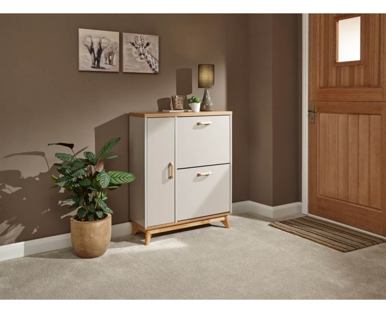 Nordica Shoe & Boot Cabinet Oak/Light Grey