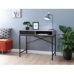 Telford Computer Desk Concrete & Black