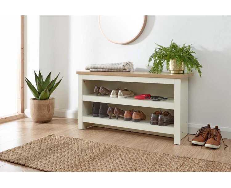 Lancaster Simple Shoe Bench Cream