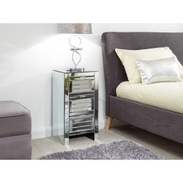 Antigua 3 Drawer Louvered Chest Mirrored