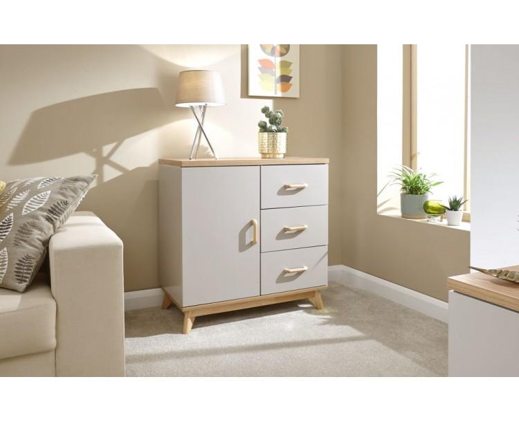 Nordica Small Sideboard Oak/Light Grey
