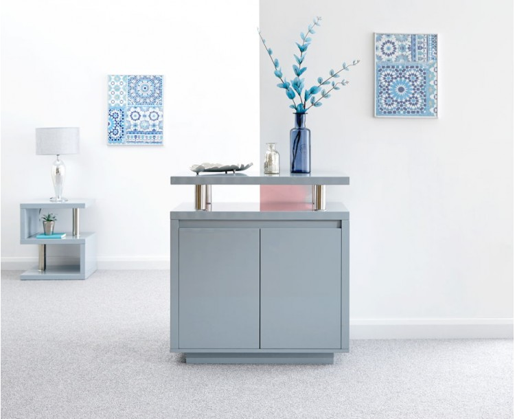 Polar High Gloss Led Sideboard Grey
