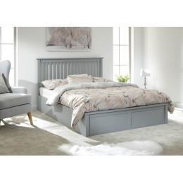 Como 150cm Wooden Ottoman Bed Grey