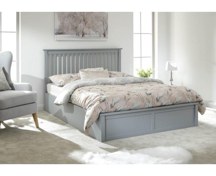 Como 135cm Wooden Ottoman Bed Grey