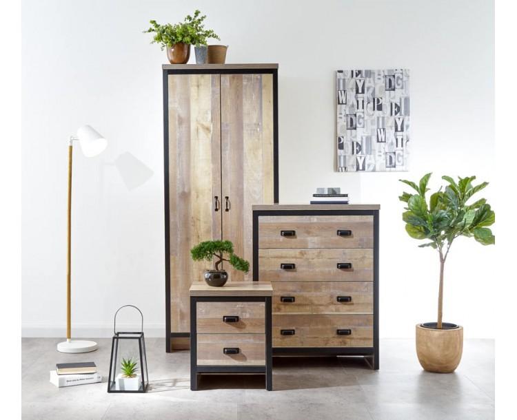 Boston 3 Piece Bedroom Set Oak